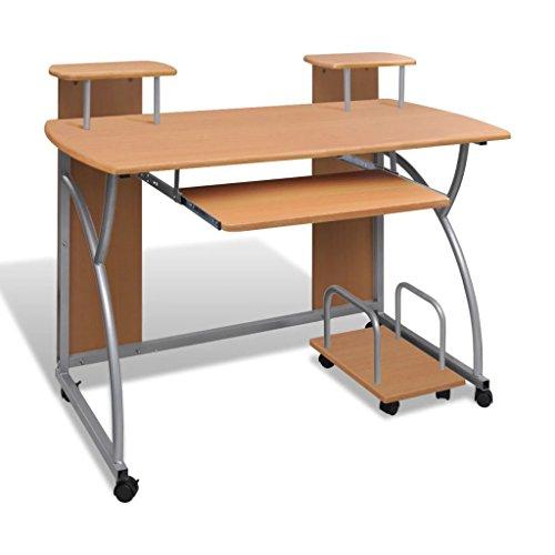 Kshzmoto Escritorio para Ordenador Bandeja Mesa de Estudio Mesa de Escritorio Mesa de Ordenador Escritorio para Estudiantes Extraíble Marrón Oficina Estudiante