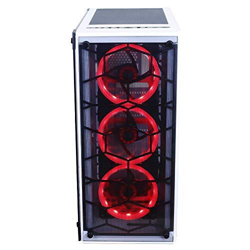 Gabinete Redragon Wheeljack Branco Atx Lateral De Vidro Temperado Sem Cooler E Sem Fonte - Gc-606Wh