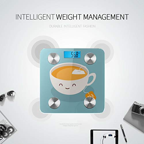 Cute Cartoon Cup of Tea Drink Best Rated Bathroom Scales Accurate Weight Scale Weigh Scales Tracks 8 Key Compositions Analyzer Sync with Fitness Apps 400 Lbs