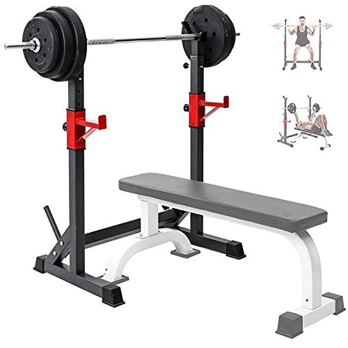 GASLIKE Squat Rack Stand Bench Press Fitness Bilanciere Regolabile Rack-Allenamento della Forza Rack, Multifunzionale Rack Squat per Home Gym, con Un Carico Massimo di 260 kg