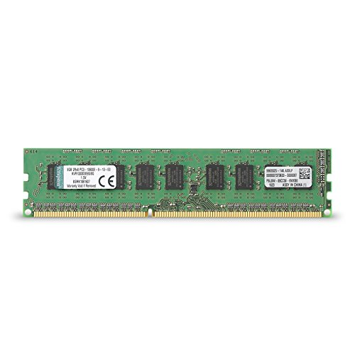 Kingston Technology ValueRAM 8GB 1333MHz DDR3 ECC CL9 DIMM for Server & Workstation 8 (PC3 10600) KVR1333D3E9S/8G