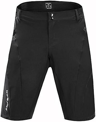 WOOLIY Vélo de Montagne équitation Pantalon Multifonctionnel Sports de Plein air courtes Anti-éclaboussures courtes,noir,M