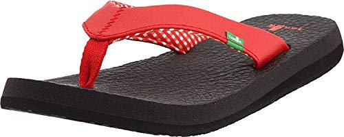 Sanuk Yoga Mat 29418063, Damen Sandalen/Zehentrenner, Rot (RED), EU 36 (US 5)