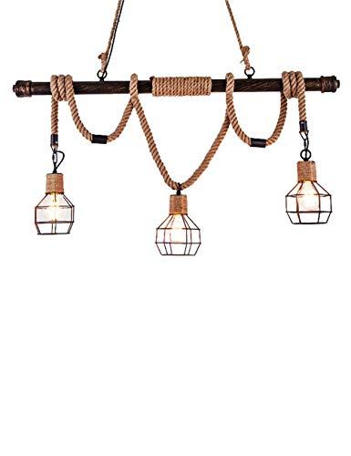 Kronleuchter abgehängte Decke Deckenventilator Licht Restaurant Retro Bar Leinen Seil Creative Bar Cafe Dekoration Lampen E27 Lichtquelle Wohnaccessoires