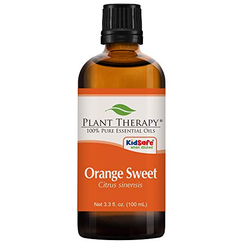 Plant Therapy Orange Sweet Essential Oil 100% Pure, Undiluted, Natural Aromatherapy, Therapeutic Grade 100 mL (3.3 oz)