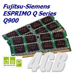DSP Memory 4GB Speicher/RAM für Fujitsu-Siemens ESPRIMO Q Series Q900