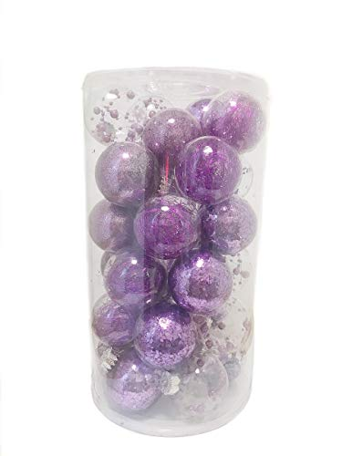 Gytha & Mom: 87 Pieces Christmas Ornament for Seasonal Decorative with Reusable Hand- Held Gift Package for Christmas Decoration Holiday Xmas Tree Decoration Home Decoration (Purple)