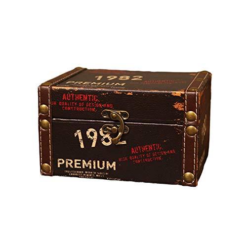 Intramachine, Caja de almacenamiento de madera con cerradura para cosméticos, pintalabios, caja de madera y contraseña (color chocolate)