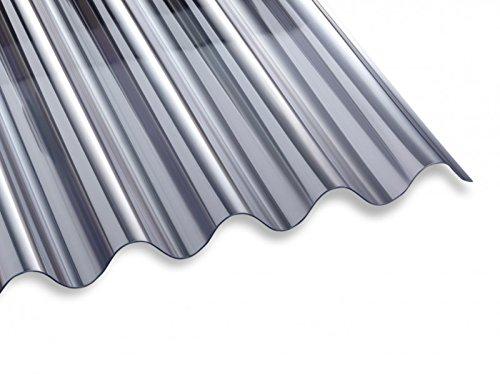 Unbekannt PVC Lichtwellplatte Profilplatte glasklar Sinus 76/18 B1030 x L2000 mm