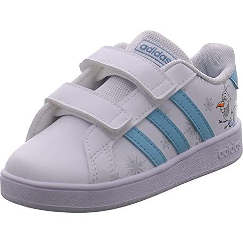 adidas Scarpe Bambina GZ7616 Sneakers Infant Sportive Ginnastica Scuola Strappo (Biano, Numeric_24)