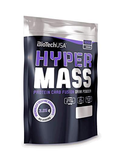 Biotech USA - Hyper Mass 1000g Beutel Chocolate - Kohlenhydrate, Protein und essentiellen Fettsäuren + C.P.Sports Eiweiß Shaker 700ml