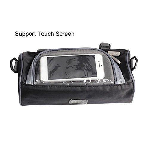 WUYANSE Motorrad-Lenkertasche Motorrad-Aufbewahrungstasche mit transparenter Touchscreen-Tasche und verstellbaren Trägern, große Kapazität