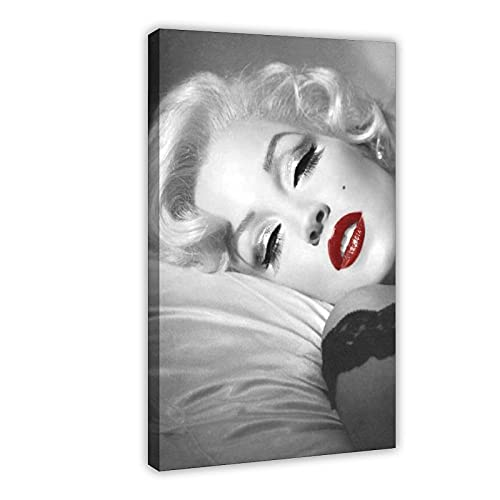 Póster de lienzo de Marilyn Monroe con imagen de estrella de cine y sexo para decoración de sala de estar, dormitorio, marco de 60 x 90 cm