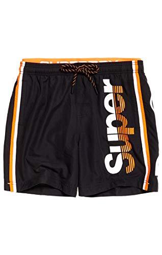 Superdry Herren State Volley Swim SHO Shorts, Schwarz (Black 02A), L