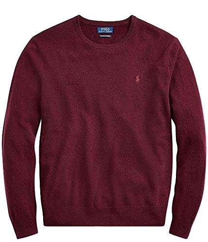 Polo Ralph Lauren Men's Crewneck Wool Sweater (XXL, AgedWine)