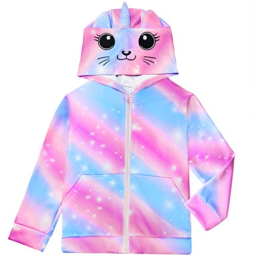 Sylfairy Girls Rainbow Unicorn Hoodie Jacket $9.45 (67% Off)