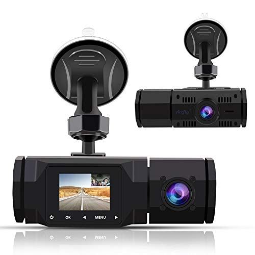Dual Dash Cam,FHD 1080P Front and 720P Inside Cabin Car Dash Camera 1.5 Inch LCD...