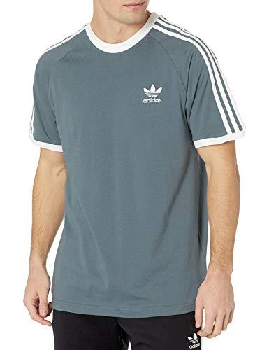 adidas Originals 3-Stripes tee Camisa, Óxido Azul, M para Hombre