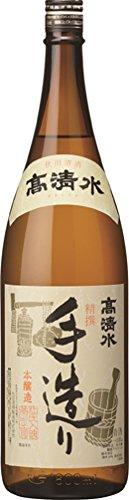 秋田酒類製造 高清水 本醸造 精撰手造り ボトルネック 1.8L