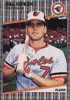 1989 Fleer #616A Bill Ripken ERR/Rick Face written/on knob of bat Collectible - Like New