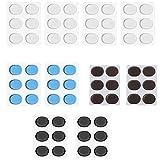 Nrpfell Amortiguadores de Tambor Almohadillas de Gel Silenciadores de Silicona para Tambores Almohadillas de Gel Humectantes Amortiguadores para Control de Tono de Tambores (60 Piezas)