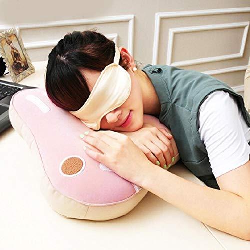 Almohada de siesta fácil, diseño plegable suave Cómoda almohada boca abajo, para sostener la cabeza y aliviar la fatiga de la cintura Oficina