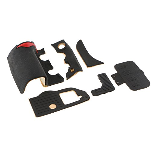 1 Set (Pack of 6) Digital Camera Body Rubber Shell Cover Replacement Repair Part for Nikon D700