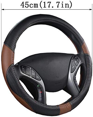 NYSCJJJ Auto Lenkradbezug Aus Mikrofaser Leder Anti-Slip for Scania R P Und S SUV Bus RV LKW Bagger Bulldozer Kran (Color : 45cm)