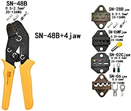 Crimping Pliers SN-48B 7 Jaw For Tab C3 Dupont 2.54 3.96 2510 Pulg/Tube/Insulation Terminals Kit Bag Electric Clamp Tools SN-48B 4jaw