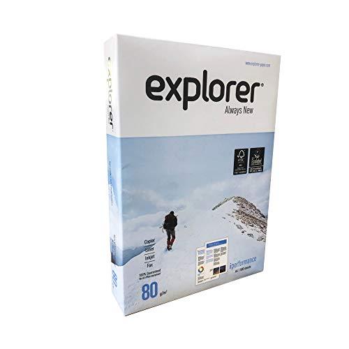 Kopierpapier Explorer EU-Ecolabel FSC DIN A4 80g/m² CIE 170 Sehr hohe Weiße 1000 Blatt