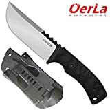 Oerla TAC TF-0017 Thunder Flash Fixed Blade Outdoor Duty Straight Knife 420HC Stainless Steel Field Knife Camping Knife with G10 Handle Waist Clip EDC Kydex Sheath