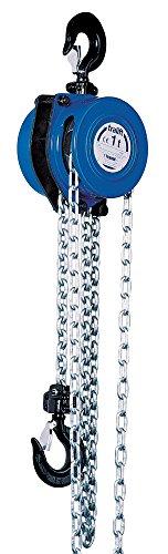 Tractel 19721 Tralift Manual Chain Hoist, Blue, 20-Feet Lift, 1-Ton