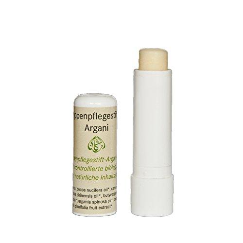 Argani Lippenpflege-Stift 4,5ml mit Bienenwachs, Bio-Arganöl, Bio-Jojobaöl, Kokosöl und Vanille