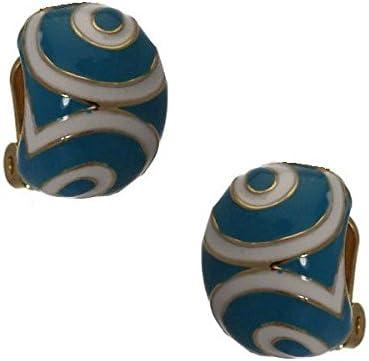 Giacinta Gold tone green White Clip On Earrings