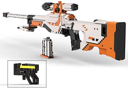 DAN DISCOUNTS Juego de 1750 bloques de construcción para armas de tiro, modelo AWP, con función de disparo, compatible con Lego