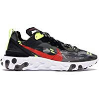 Nike React Element 87 Hombre Running Trainers CJ4988 Sneakers Zapatos (UK 6 US 6.5 EU 39, Medium Olive Bright Crimson 200)