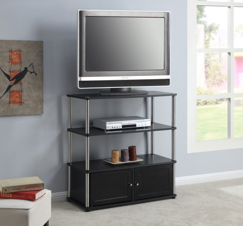 Convenience Concepts Designs2Go Highboy TV Stand, Black