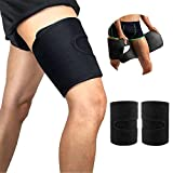 PHIONXEI Thigh Trimmer for Women and Men Weight Loss,Thigh Hamstring Compression Sleeves for Leg,Thigh Shapers for Weight Loss,Sweat Thigh Slimmer Wraps,Thigh Brace for Women and Men 2 Pack L Size.