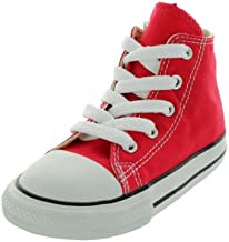 Converse Unisex-Baby Chuck Taylor All Star Canvas High Top Sneaker, red, 16 M US
