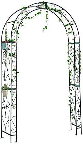Trädgårdspallar för klätterväxter Utomhusmetallträdgård för rosor Klättringsväxter Stödbågsdekoration Tillverkad av belagd stålrör med enkel montering Trädgårdsbåge