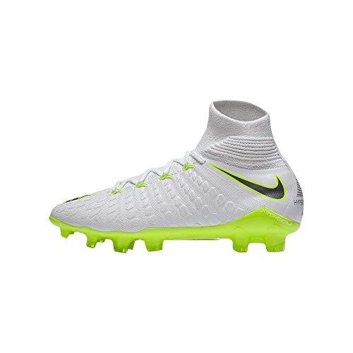 Nike Hypervenom Phantom III Elite DF FG Fußballschuhe, Weiß (weiß/grau/gelb weiß/grau/gelb), 38 EU