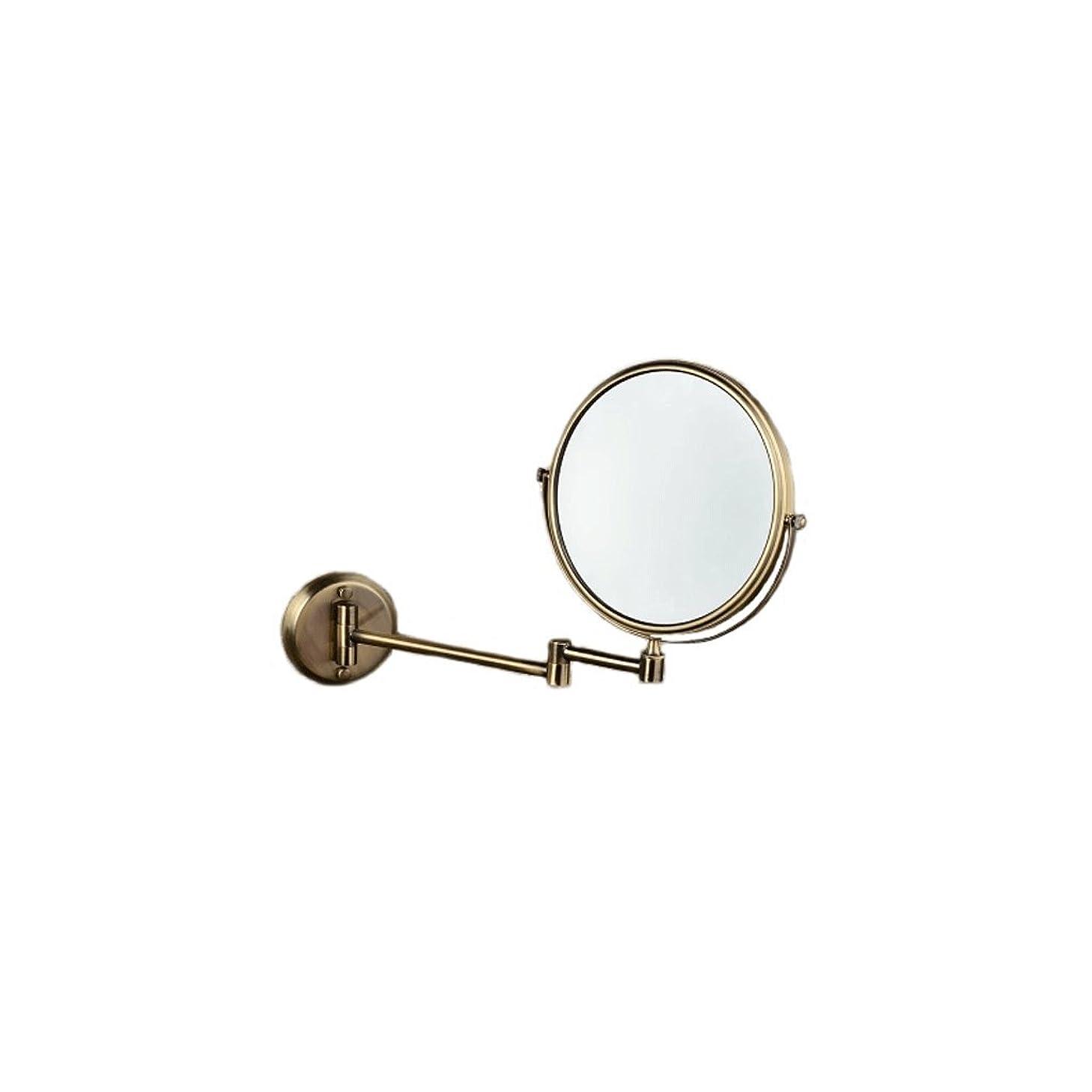 煙突安定した十JTWJ グリーンブロンズ壁掛け美容ミラー浴室壁掛けミラー格納式化粧鏡レトロミラー