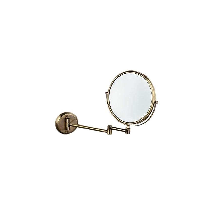 ハンバーガー嫌い隠すJTWJ グリーンブロンズ壁掛け美容ミラー浴室壁掛けミラー格納式化粧鏡レトロミラー