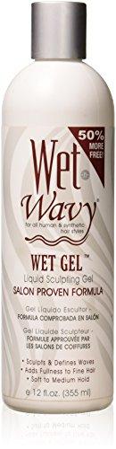 Wet-n-wavy Wet Gel Liquid Sculpting Gel Salon Proven Formula, 12 Oz
