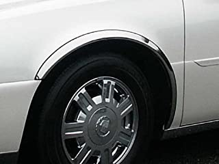 QAA fits 2000-2005 Cadillac DeVille, 2006-2011 Cadillac DTS (4 Piece Molded Stainless Steel Wheel Well Fender Trim Molding, 2