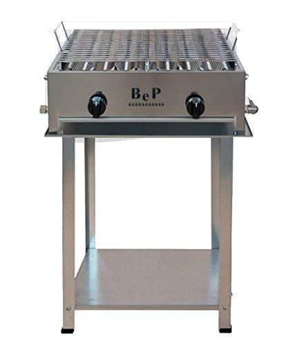 Barbecue Bep a gas acciaio inox 100% Made in Italy artigianale 2 FUOCHI PER CAMINI