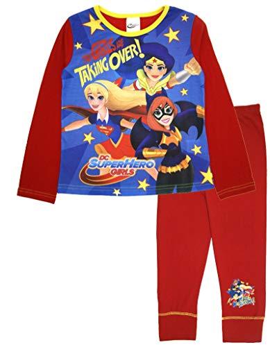 DC Super Hero - Pijama largo para niñas Chicas tomando el control 5-6 Años
