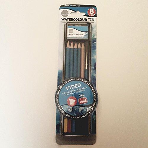 Daler Rowney - 643200008 - Kit De Loisirs Créatifs - Ensemble 9 Pièces De Crayons D'Aquarelle