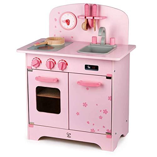 Hape E8261 E8261-Spielküche Kirschblüte, Kinderküche aus Holz
