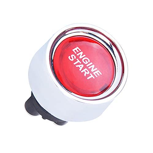 RUIZHI Interruptor de Arranque del Motor Botón de Encendido Multifuncional Pulsador de Arranque DC 12V 50A Ignition Starter para Vehículo Coche (Rojo)